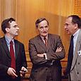 Avec Francis Mer et Benoit Battistelli