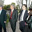 Avec Francis Graille, Alain Cayzac et mon épouse, à l'occasion du dîner annuel du PSG amateur