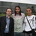 Avec Mario Yepes et Mohamed Benhamou