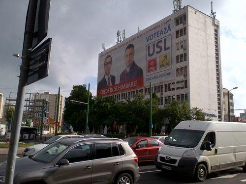 Campagne électorale en Roumanie