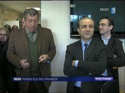 Extrait du reportage du 19/20 de France 3 consacré à la visite de Karoutchi à Clichy